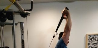 cable tricep extension with rope and pushdown Exercise