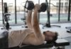 Dumbbell floor press | One arm, Close grip