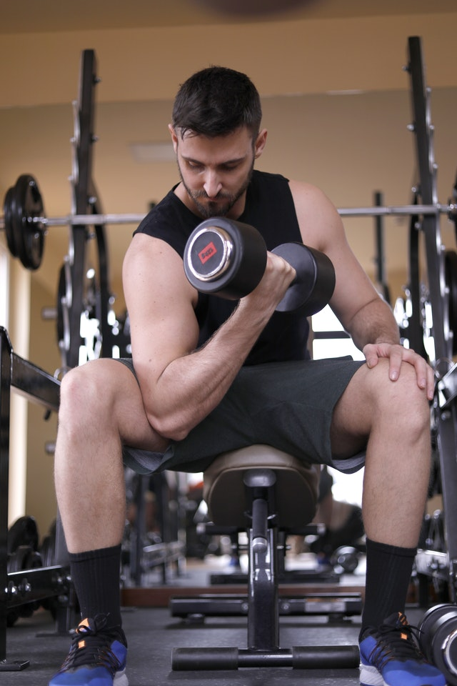 Lower chest workout at home with dumbbells routine