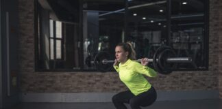 How many calories does (20, 30, 50) squats exercise burn?
