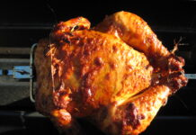 What is the maximum amount of time a rotisserie chicken can be left out?