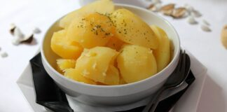 Is it possible to consume a cooked potato that has been left out overnight?